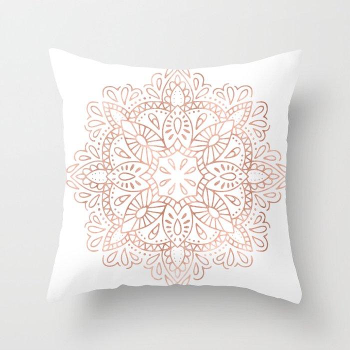 Mandala Rose Gold Pink Shimmer By Nature Magick Throw