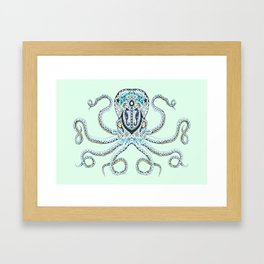 Sugar Skull Octopus Framed Art Print