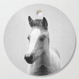 Baby Horse - Black & White Cutting Board