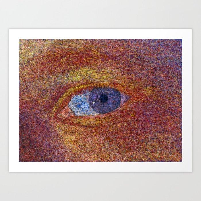 String theory color study I Art Print