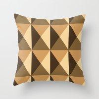 copper Throw Pillows featuring Copper by Fernanda Fattu