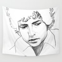 dylan Wall Tapestries featuring BOB  DYLAN by ART FEEDS HUNGER