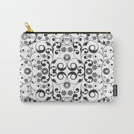 Black and white arabesques Carry-All Pouch