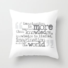 imagination is more important than knowledge… Throw Pillow