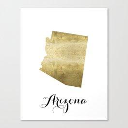arizona gold foil map print Canvas Print
