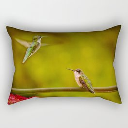 Natures Twitter War Rectangular Pillow