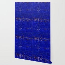 -A5- Royal Calm Blue Bohemian Moroccan Artwork. Wallpaper