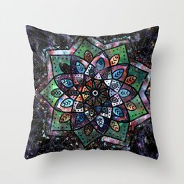 Cosmic Mandala Throw Pillow
