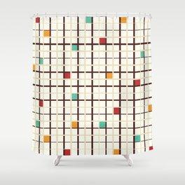 Grid pattern Shower Curtain