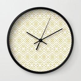 Boho Campfire - Gold Wall Clock