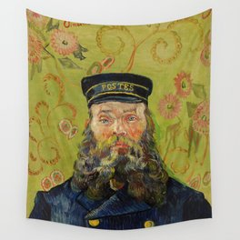 The Postman (Joseph Roulin) by Vincent Van Gogh Wall Tapestry