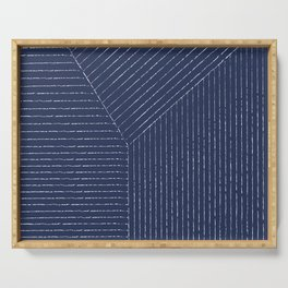 Lines (Navy) Serving Tray