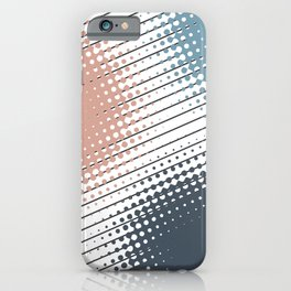 Colorful halftone design iPhone Case