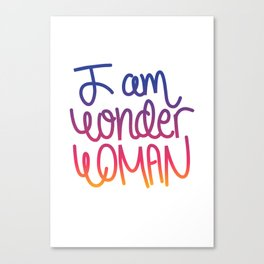 Woman power inspiration quote in a colorful gradient Canvas Print