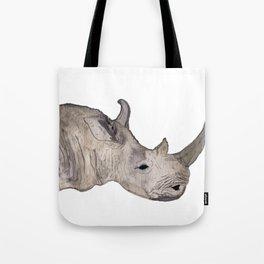 Watercolor Rhino Tote Bag