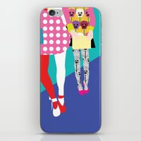 chic iPhone & iPod Skins featuring chic by BuBu illustration