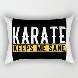Karate Martial Arts Lovers Gift Idea Motif Rectangular Pillow