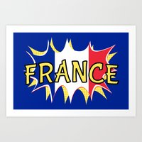 france Art Prints featuring France by mailboxdisco