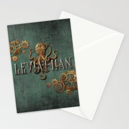 Leviathan - steampunk Stationery Cards