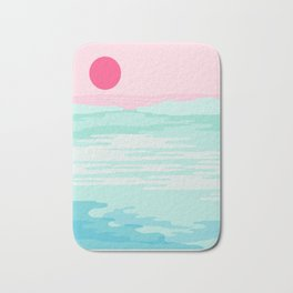 Really - 80s style throwback sunset sunrise west coast socal vibes surfing beach vacation Bath Mat