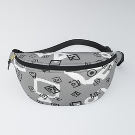 pattern with symbols of photos and videos Fanny Pack