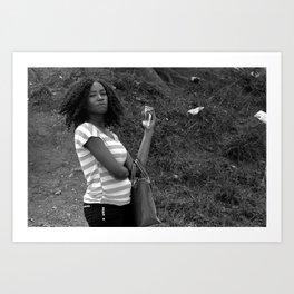 A girl at Jabi Lake Art Print