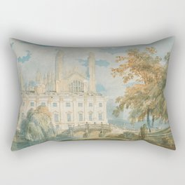 """J.M.W. Turner """"Clare Hall and King's College Chapel, Cambridge, from the Banks of the River Cam"""" Rectangular Pillow"""