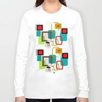 mid century Long Sleeve T-shirts featuring Mid-Century Modern Inspired Abstract by Kippygirl