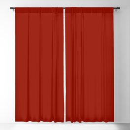 Cherry Red -Solid Color Collection Blackout Curtain