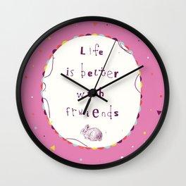 Fwriends Wall Clock