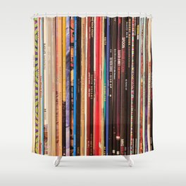 Indie Rock Vinyl Records Shower Curtain