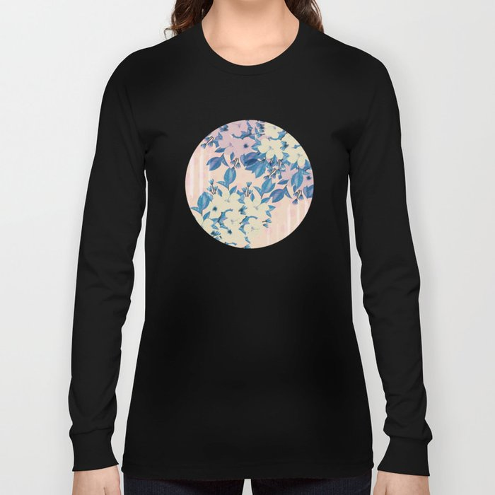 Pink Floral Long Sleeve T-shirt