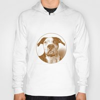 pit bull Hoodies featuring Pit Bull by George Peters