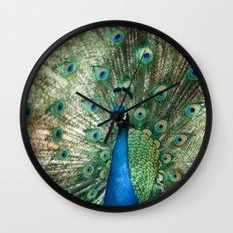Peacocking Wall Clock