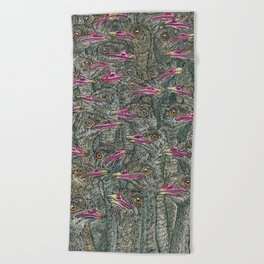 Ostriches Beach Towel