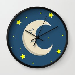 Man in the Moon in the Stars Wall Clock