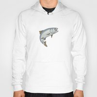 trout Hoodies featuring Trout - by Rui Guerreiro by CRG ArtDesign