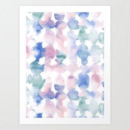 Dye Ovals Pastel Wandering Art Print