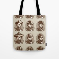 Abe Tries on Hats Tote Bag
