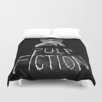 pulp Duvet Covers featuring Pulp Fiction by Demetria Rose