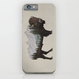 The Land of the Bison iPhone Case