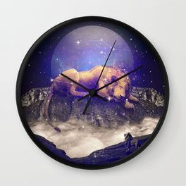 Under the Stars III (Leo) Wall Clock