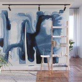 Indigo Flow no. 1 Wall Mural