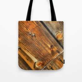 Wood Grain Pattern on Weathered Wooden Boards Tote Bag