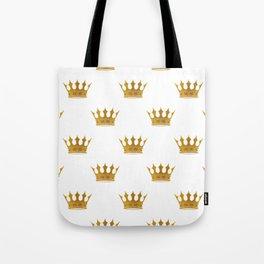 Wedding White Gold Crowns Tote Bag