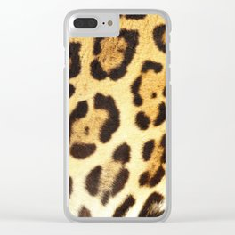Piel de Jaguar Clear iPhone Case