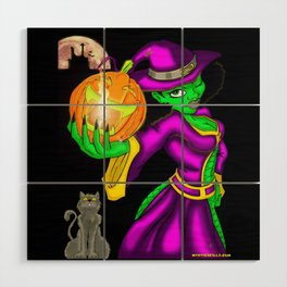 Hot Witch Wood Wall Art