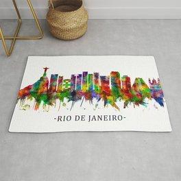 Rio de Janeiro Brazil Skyline Rug