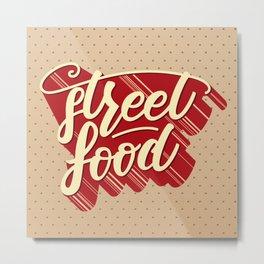 Street food lettering poster Metal Print