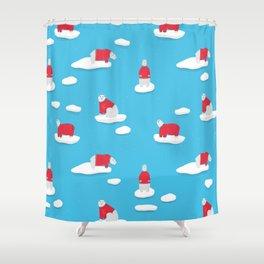 Polar Bears on Ice Shower Curtain